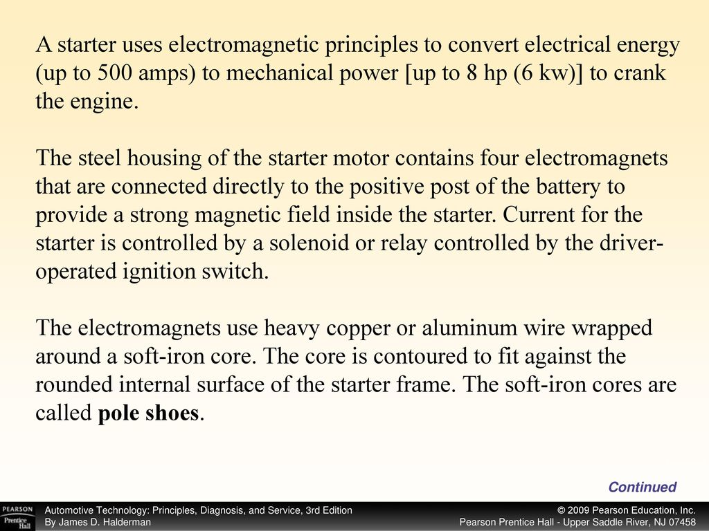Start ppt download a starter uses electromagnetic principles to convert electrical energy up to 500 amps to geenschuldenfo Images